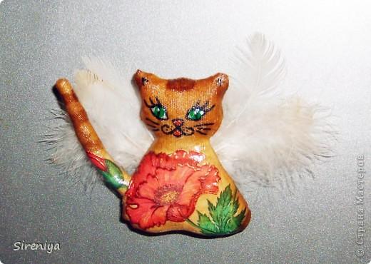 Кофейно-запеченые декупажные киски-ангелочки с нежным запахом корицы фото 1