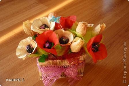 Подарки делала учителям музыки Полинки к 8 марта. Впервые пробовала свит-дизайн. фото 2