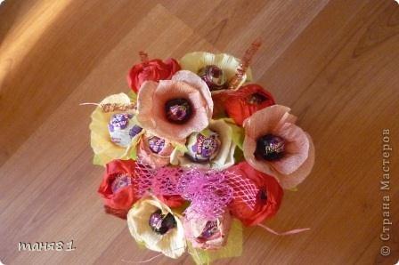 Подарки делала учителям музыки Полинки к 8 марта. Впервые пробовала свит-дизайн. фото 4