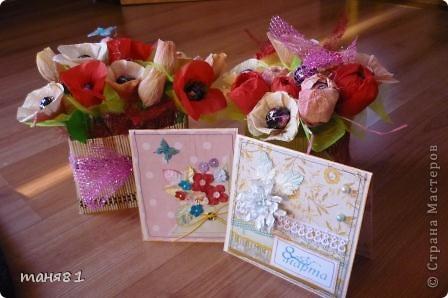 Подарки делала учителям музыки Полинки к 8 марта. Впервые пробовала свит-дизайн. фото 1