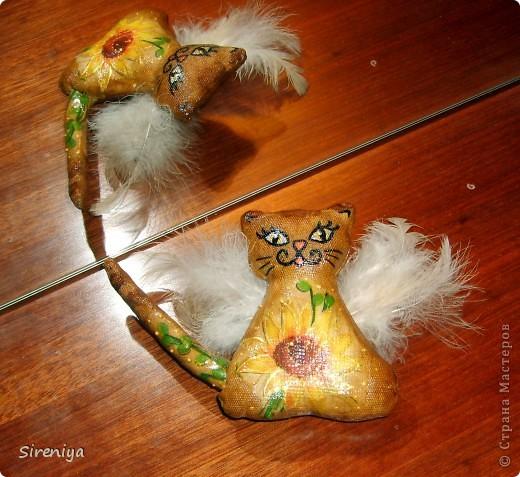 Кофейно-запеченые декупажные киски-ангелочки с нежным запахом корицы фото 3