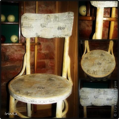 """Здравствуйте дорогие мастерицы!))) Я сегодня хочу показать вам переделаны мною стулья для бильярдной)) Ничего необыкновенного и сказочного в них нет, просто старые вещи в новых """"одежках"""". Мне они нравятся и по стилю вроде бы подходят, а вы как думаете?))) фото 1"""