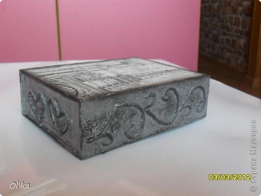 Здравствуйте, Мастерицы! Я к Вам снова со шкатулочкой из своей любимой коробочки с магнитным замочком.  фото 4