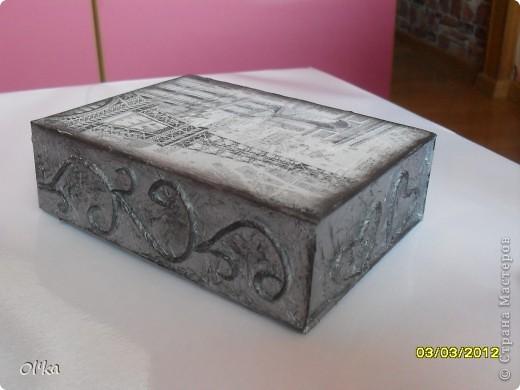 Здравствуйте, Мастерицы! Я к Вам снова со шкатулочкой из своей любимой коробочки с магнитным замочком.  фото 3