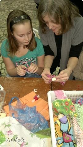 """Этих куколок Веснянок сделали Анна ( мама) и Олеся (дочка) на моём мастер-классе, который прошёл в клубе """"Интеграл"""" в фойе за большим столом для всех желающих.  фото 7"""