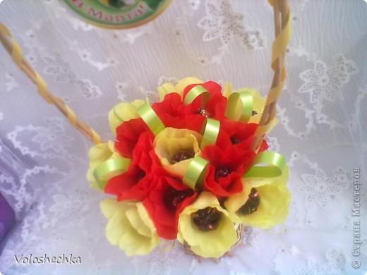 Привет всем моим гостям)  Перед вами еще одна моя работа - весенняя корзинка со сладкими тюльпанами, которую сделала в подарок.  фото 5
