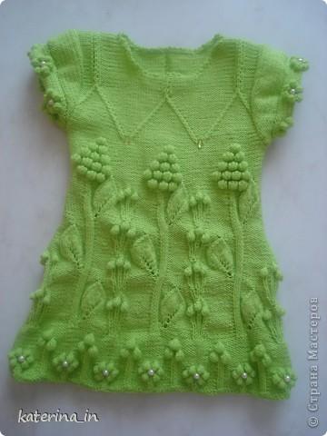 Весеннее платье спицами. фото 1