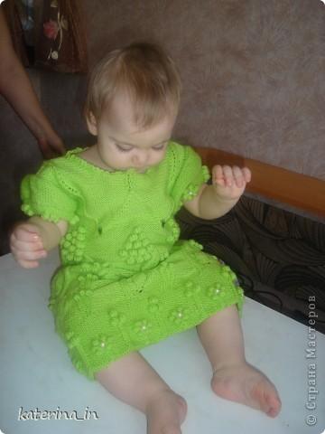 Весеннее платье спицами. фото 2