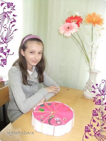 """Тортик  Мироновой Анастасии 5 """"Б"""" класс  фото 2"""