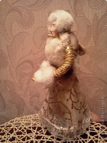 "Каркасная кукла ""ЗИМУШКА - ЗИМА""(детская коллективная работа) фото 4"