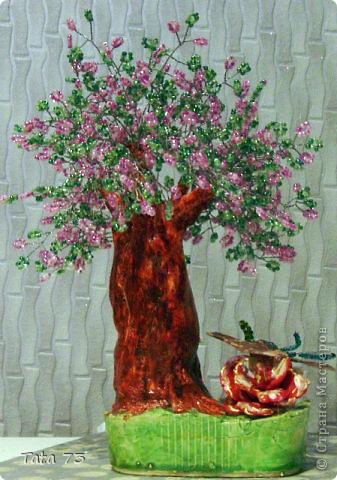 мои бисерные деревья фото 2