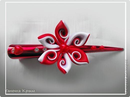 Украшение 8 марта Цумами Канзаши Алая звезда подарочек по весеннему обмену Ленты