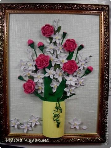очень понравилась работа Ольги Ольшак моей маме и я  решила ей сделать подарок на день рождения фото 1