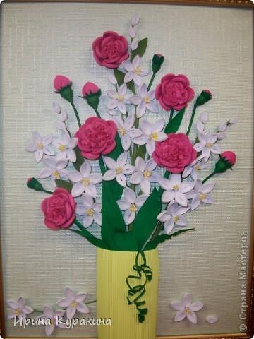 очень понравилась работа Ольги Ольшак моей маме и я  решила ей сделать подарок на день рождения фото 2