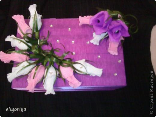 Шкатулка со сладкими розами фото 1