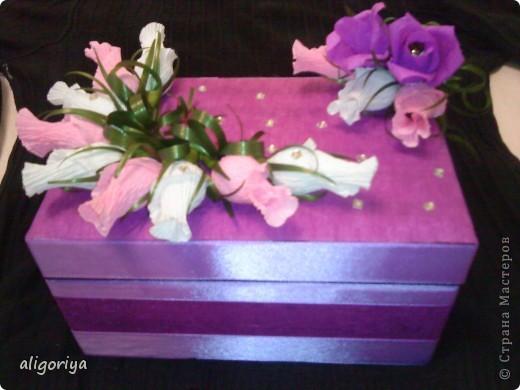 Шкатулка со сладкими розами фото 2
