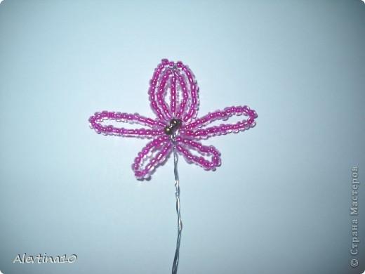 Мастер-класс Бисероплетение Орхидея из бисера МК Бисер фото 5