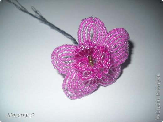 Мастер-класс Бисероплетение Орхидея из бисера МК Бисер фото 9