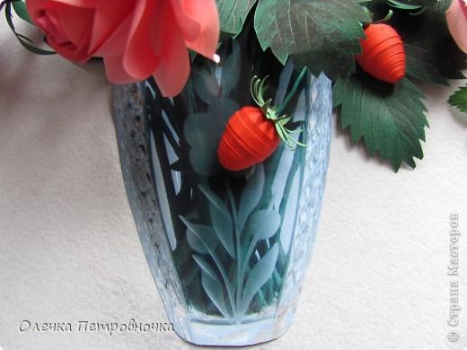 """Многие интересовались, как была сделана вазочка, в  композиции """"РОЗЫ С КЛУБНИКОЙ"""". фото 1"""