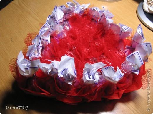 Сердце из конфет фото 2