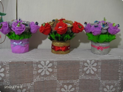 Заказ букетиков из конфет фото 1