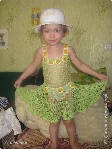 Пляжное платье для доченьки крючком. фото 2