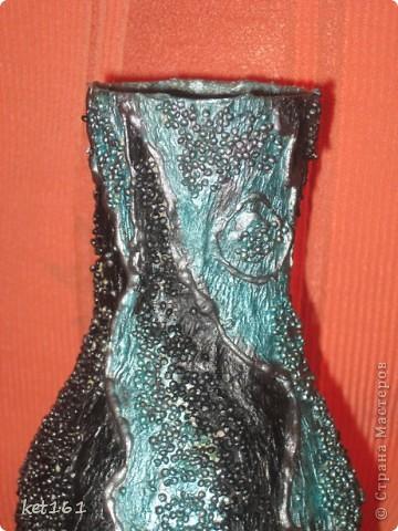 Вазочка папье-маше для сухоцветов фото 4