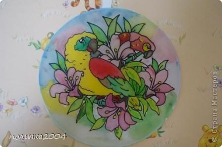 Подарили мне на 8 марта вот такую картинку для росписи по ткани. Первый раз работала в этой технике. Мне очень понравилось. фото 1