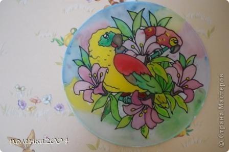 Подарили мне на 8 марта вот такую картинку для росписи по ткани. Первый раз работала в этой технике. Мне очень понравилось. фото 2