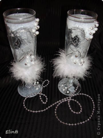 Свадебные бокалы, шампанское фото 5