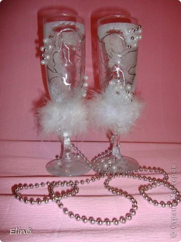 Свадебные бокалы, шампанское фото 4