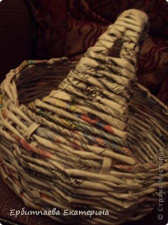Вот она, моя кривоватая корзиночка)))) Прошу Вас оценить мою работу и указать на ошибки)) фото 4