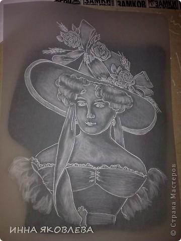 Портрет в технике пергамано.Формат А4 фото 6