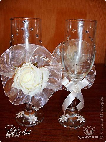 Свадебные бокалы, шампанское фото 3