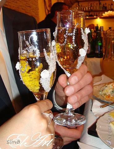 Свадебные бокалы, шампанское фото 9
