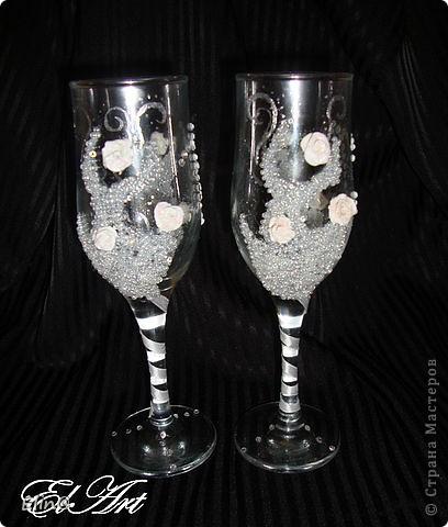 Свадебные бокалы, шампанское фото 7