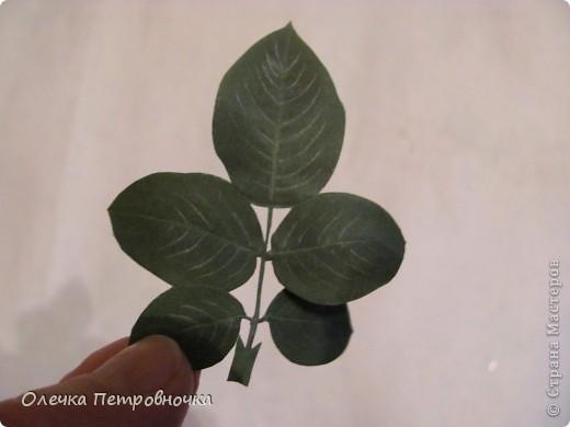 Чтобы сделать такой листочек для розы... фото 1
