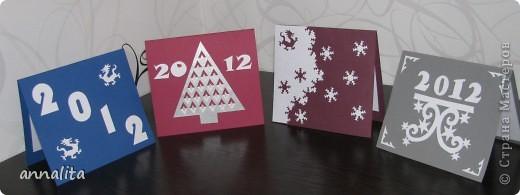 Такие вот открыточки делала к Новому году 2012 фото 1