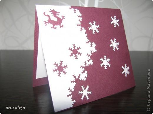 Такие вот открыточки делала к Новому году 2012 фото 8