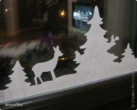 В этом году я наконец-то у себя дома украсила окна к Новому году.  фото 2