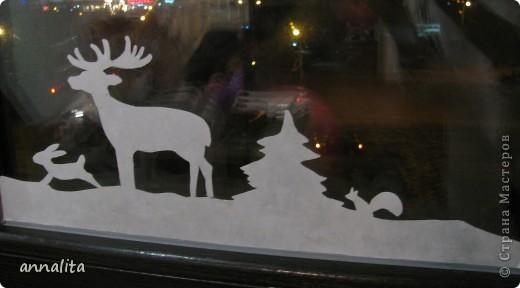 В этом году я наконец-то у себя дома украсила окна к Новому году.  фото 3
