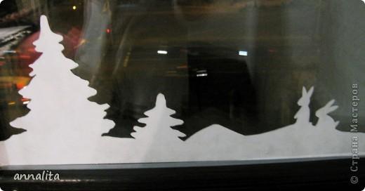 В этом году я наконец-то у себя дома украсила окна к Новому году.  фото 1