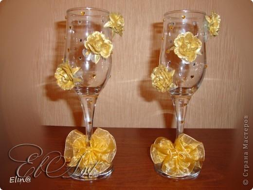 Свадебные бокалы, шампанское фото 1
