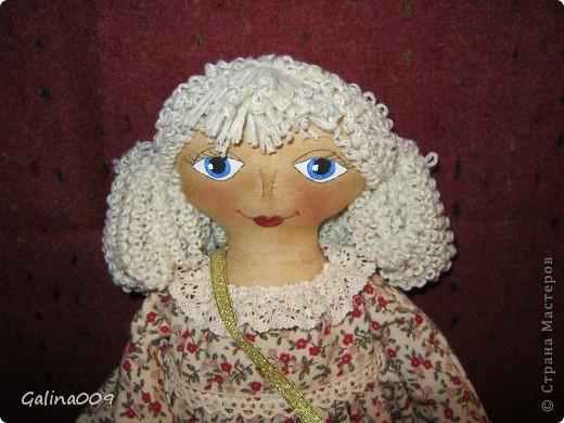 Кукла сшита по мастер-классу Елены Коган. Это замечательная мастерица кукол.  фото 2