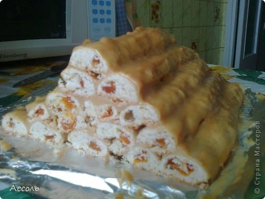 У нас сегодня к чаю вкусный пирог из песочного теста, с начинкой из кураги. фото 1