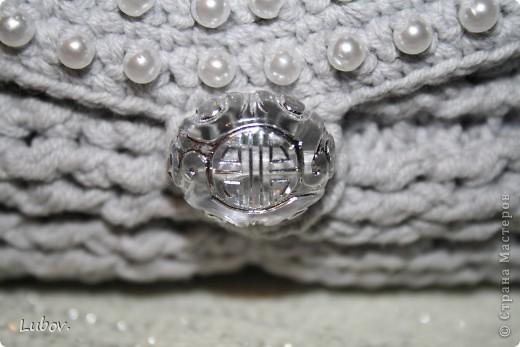 Мастер-класс Поделка изделие Презент от Голубки Вязание крючком Вечерняя сумочка с бусинами Бусинки Пряжа фото 4