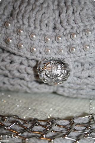 Мастер-класс Поделка изделие Презент от Голубки Вязание крючком Вечерняя сумочка с бусинами Бусинки Пряжа фото 3