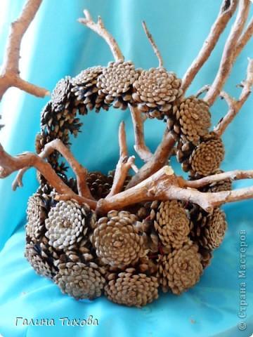 Графин, декорированный ракушками. фото 9