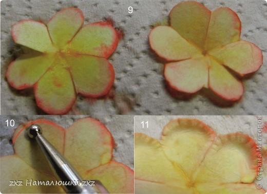 Всем здравствуйте!Выношу вам на суд мой первый МК!Сразу же даю ссылочку на сайт Астории http://astoriaflowers.blogspot.com/2012/01/blog-post_7452.html  По её МК я училась делать розы,основной принцип взят оттуда.Там же есть шаблоны цветов,как их подготовить к работе;поэтому эти подробности я повторять не буду))Расскажу об окраске и собственно сборке розы)Вот,что нам понадобится: фото 5