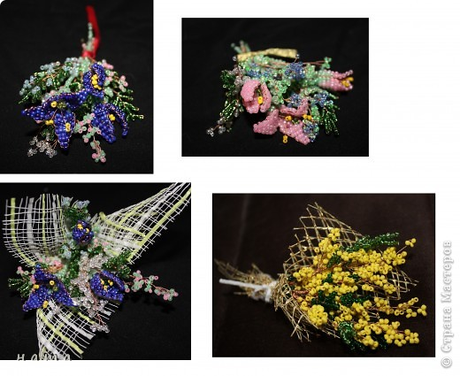 Поделка изделие 8 марта День рождения Бисероплетение Весенние первоцветы Бисер фото 2.
